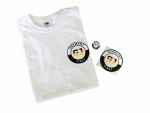 Set G1 Germany First mit T-Shirt + Anstecker + Sticker, Größe S