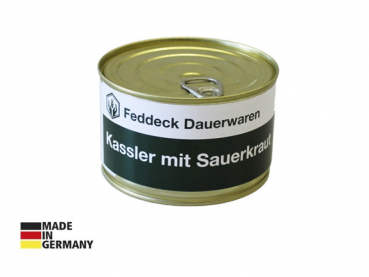 Canned ready meal, Smoked pork (Kassler) with sauerkraut 400 g