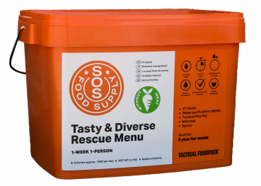 Tactical SOS Weekpack vegetarian, 2,1 kg (SOS Food Supply)