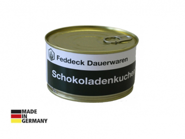 Canned cake, Chocolate cake, baked in the tin, 200 g