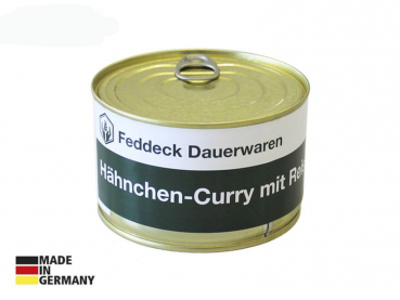 Canned ready meal, Chicken Curry with rice 400 g