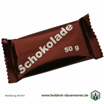 50 x 50 g Chocolate bars, original production of the German Armed Forces - special price
